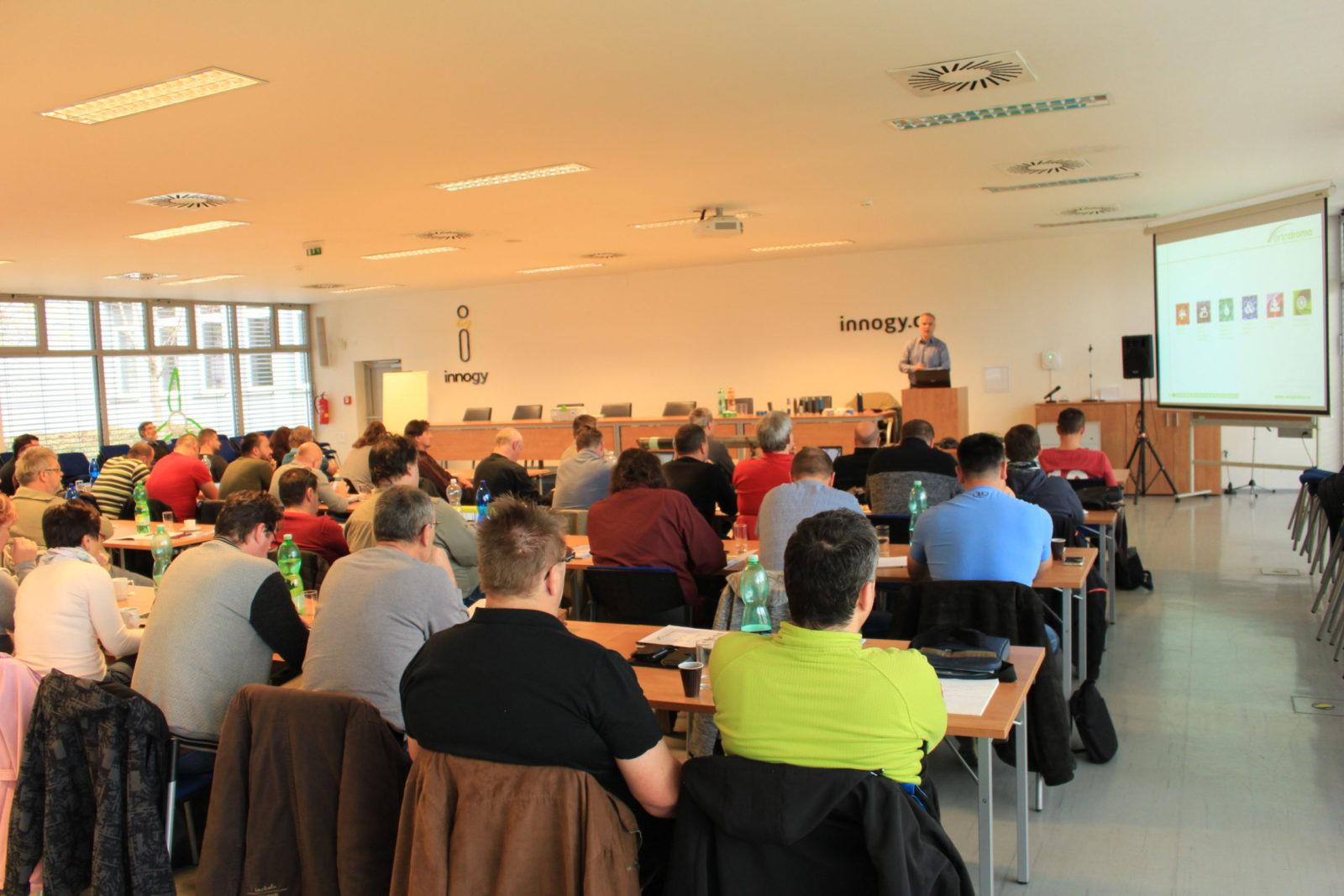 Pohled do přednáškového sálu při naší prezentaci