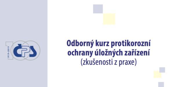 Pozvánka na kurz protikorozní ochrany úložných zařízení 2019