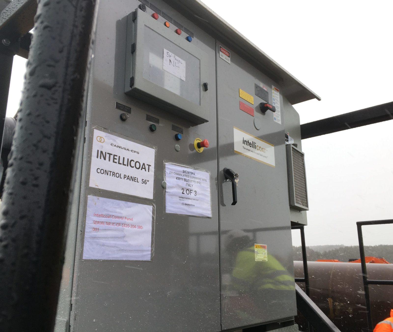 Řídící panel jednotky Intellicoat