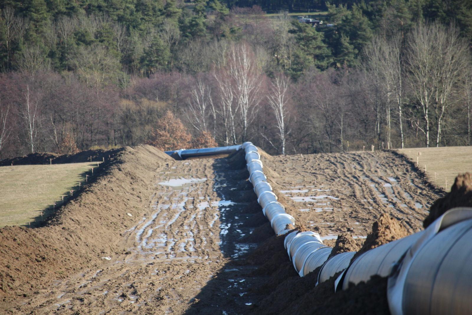Výstavba plynovodu Kateřinský potok - Přimda